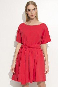 Makadamia M334 sukienka czerwona