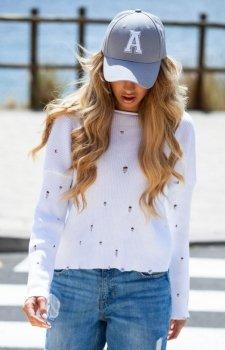 FIMFI I293 sweter biały