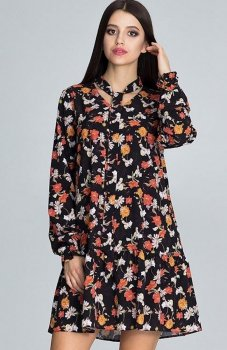 Figl M599 Wzór 82 sukienka w kwiaty