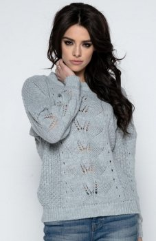 Fobya F482 sweter szary