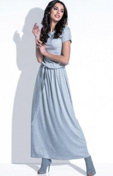 *Fobya F396 sukienka szara