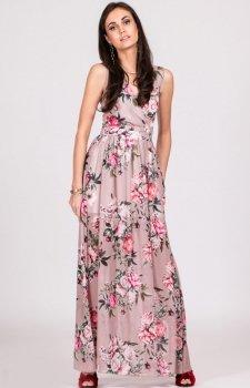 Kwiatowa sukienka maxi D21