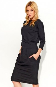 *Makadamia M376 sukienka czarna