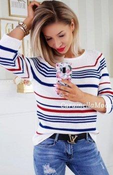 *Carmel sweterek w paski
