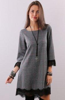 Roco 0222 sukienka pepitka