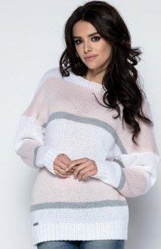 Fobya F483 sweter pudrowy róż