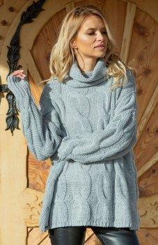 Fobya F616 sweter szary
