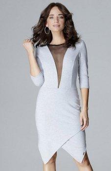 Lenitif L012 sukienka szara