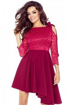Bergamo 78-04 sukienka bordowa