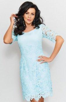 *Roco 0204 sukienka błękitna