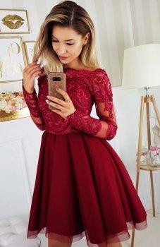 Bicotone 2137-10 sukienka bordowa