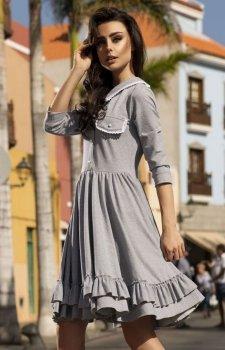 Leminiade L235 sukienka szara
