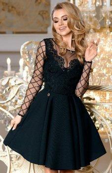 Bicotone 2165-06 sukienka rozkloszowana czarna