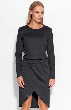 Makadamia M327 sukienka czarna