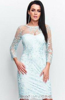 Roco 199 sukienka koronkowa turkusowa