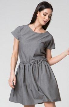 Mosali M022 sukienka szara
