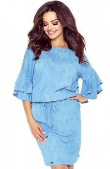 Bergamo 81-02 sukienka niebieska