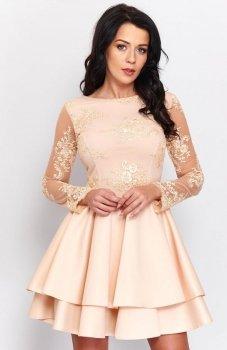 Roco 0186 sukienka złota