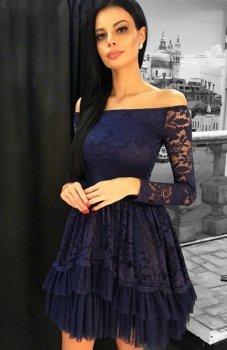 Bicotone 2131-01 sukienka granatowa