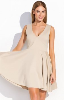 *Makadamia M295 sukienka beżowa