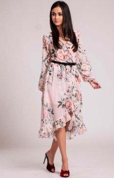 Zwiewna sukienka w róże Roco 0243