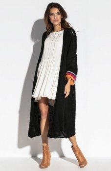 Fobya F572 sweter długi czarny