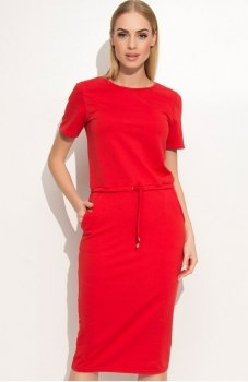 *Makadamia M345 sukienka czerwona
