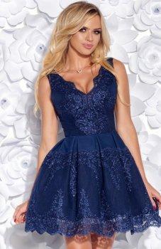 Bicotone 2136-01 sukienka niebieska