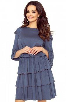 Bergamo 99-02 sukienka jeansowy granat
