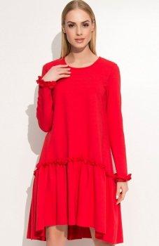Makadamia M336 sukienka czerwona