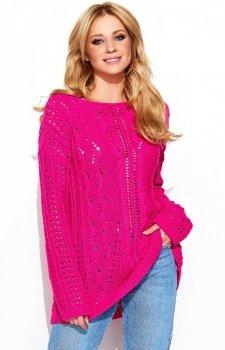 Makadamia S60 sweter amarantowy