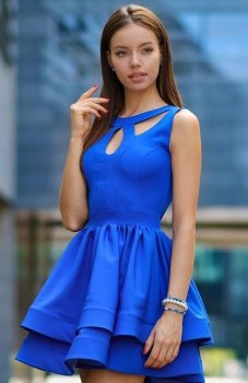 Roco R-198 sukienka chabrowa