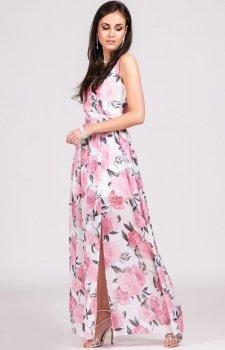 Kwiatowa sukienka maxi D27