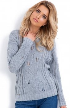 Fobya F624 sweter szary