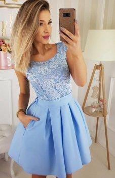 Bicotone 2141-39 sukienka błękitna