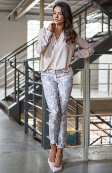 *Lola Fashion spodnie cygaretki wzór 1