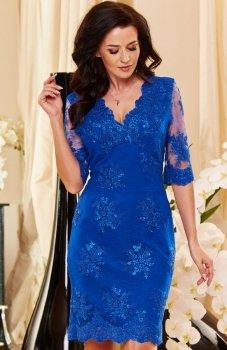 Roco 0153 sukienka chabrowa