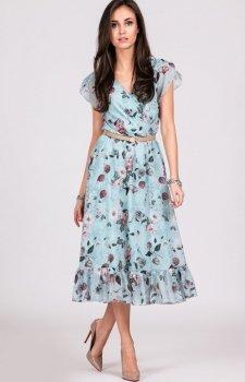 Szyfonowa sukienka w kwiaty 0250/D06