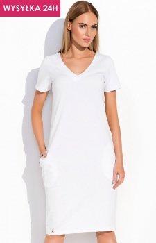 *Makadamia M294 sukienka biała