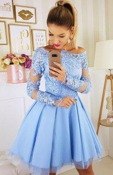 Bicotone 2137-05 sukienka błękitna