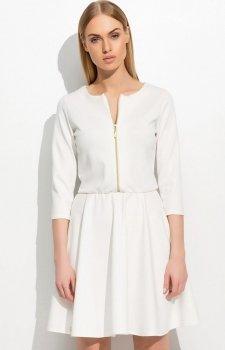 Makadamia M306 sukienka biała
