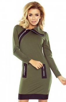*Numoco 129-7 sukienka khaki