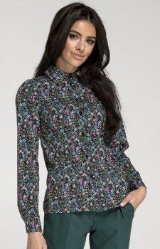 Klasyczna Koszula z Długim Rękawem w kwiatki NA1015