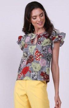 Kolorowa bluzka z falbankami NA958
