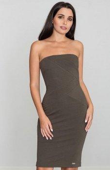 Figl M575 sukienka oliwkowa