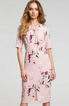 Moe M383 sukienka pudrowa