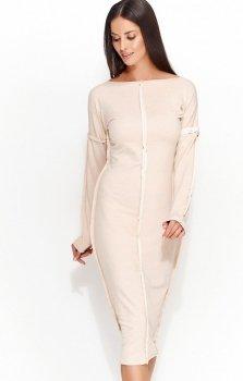 *Numinou NU59 sukienka beżowa
