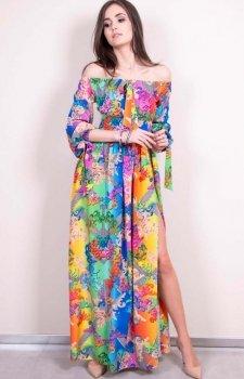 Sukienka hiszpanka multikolor 245