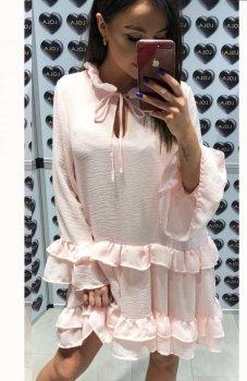 Lola Fashion Spanish sukienka pudrowy róż