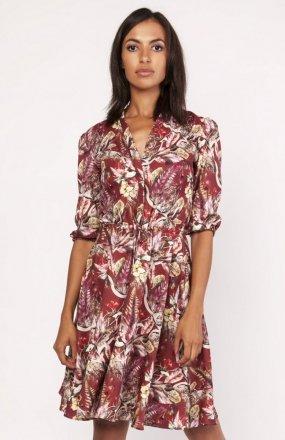 Sukienka o rozkloszowanym dole wzór SUK155